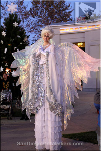 stilt walker angel