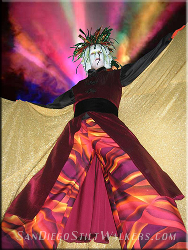 stilt walker cirque
