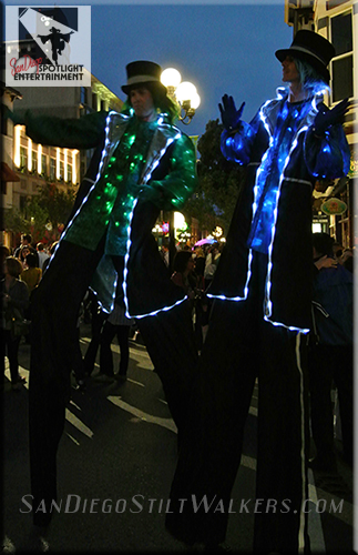 stilt walker lighted