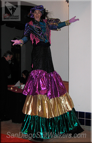 stilt walker mardi gras
