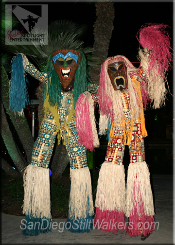 stilt walkers tiki