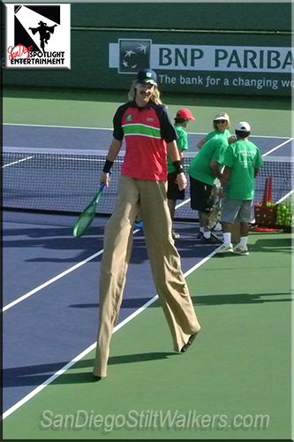 stilt walker tennis